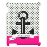 Cute Trendy Polka A Dot & Pink Nautical Ipad Case