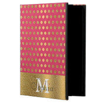 Cute trendy polka dots faux gold glitter pattern powis iPad air 2 case
