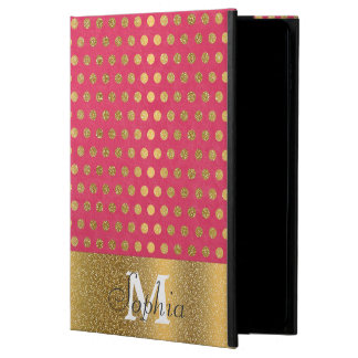 Cute trendy polka dots faux gold glitter pattern powis iPad air 2 case
