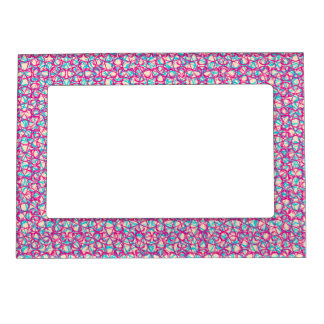 Cute Trendy Scribble Bows Magnetic Picture Frame