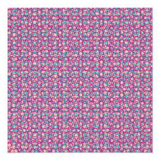 Cute Trendy Scribble Bows Poster