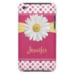 Cute Trendy Shasta Daisy Polka Dot iPod Case Ipod Touch Covers