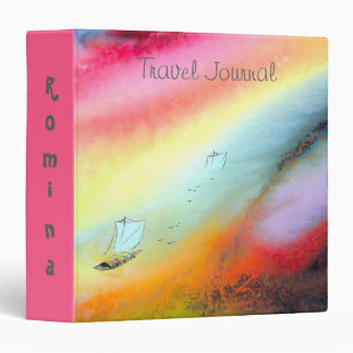 Cute Trendy Travel Journal Binder w Colorful Motif