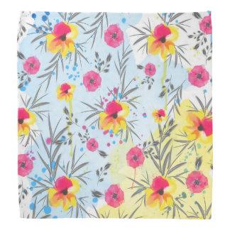 Cute trendy tropical floral paint watercolors kerchiefs