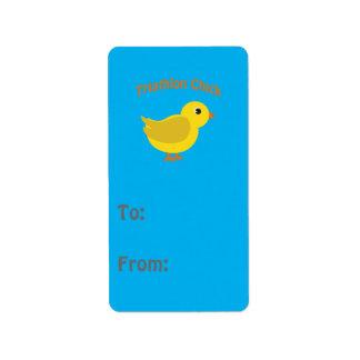 Cute Triathlon Chick Label