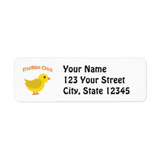 Cute Triathlon Chick Return Address Label