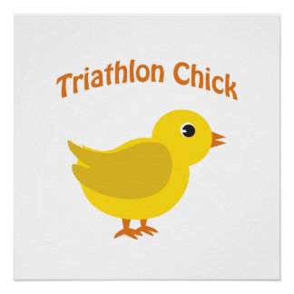 Cute Triathlon Chick Poster
