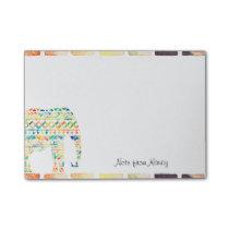 Cute Tribal Design Elephant Post-it Notes