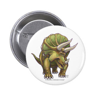 Cute Triceratops Art Gifts & Accessories Pinback Button