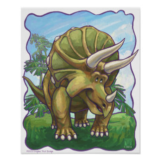 Cute Triceratops Art Gifts & Accessories Poster