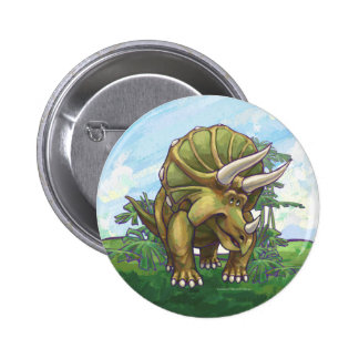 Cute Triceratops Button