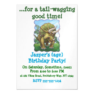 Cute Triceratops Party Magnetic Card