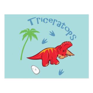 Cute Triceratops Postcard