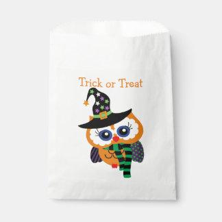 Cute Trick or Treat Halloween Owl Favor Bags