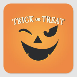 CUTE Trick or Treat Happy Halloween Sticker