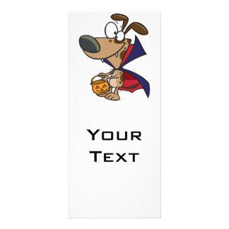 cute trick or treat vampire puppy dog cartoon full color rack card