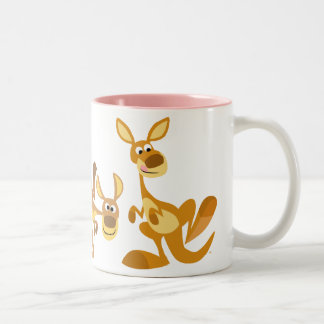 Cute Trio of Cartoon Kangaroos Mug