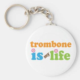 Cute Trombone is My Life Keychain