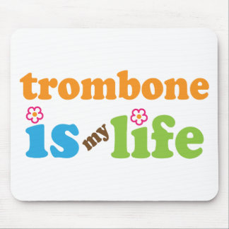Cute Trombone is My Life Mouse Pad