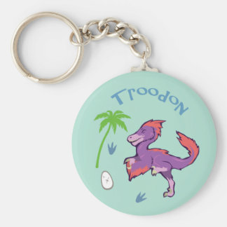 Cute Troodon Keychain
