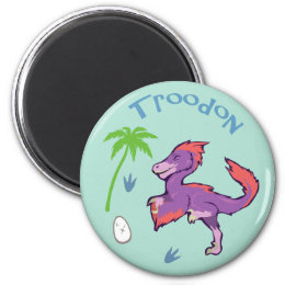 Cute Troodon Magnet