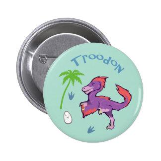 Cute Troodon Pinback Button