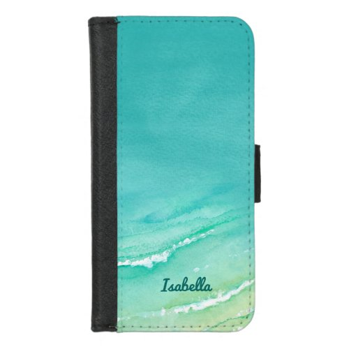 Cute Tropical Beach Teal Turquoise Watercolor Phone Case