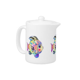 Cute Tropical Fishie Kawaii Teapot