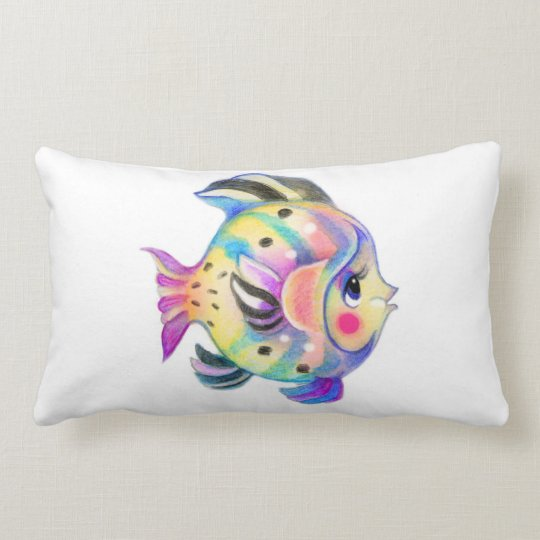 Cute Tropical Fishie Pillow