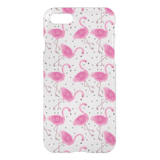 Cute Tropical Flamingo Polka Dot Pattern iPhone 8/7 Case