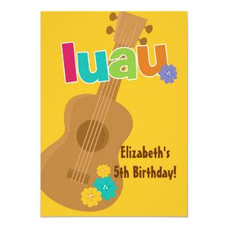 CUTE Tropical Luau Birthday Party Invitation
