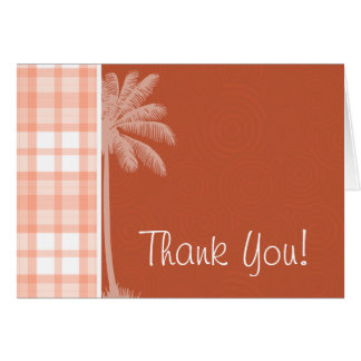 Cute Tropical Orange Plaid Card
