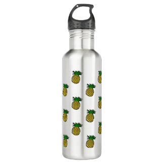 Cute Tropical Summer Fruits Pineapples Pattern Water Bottle