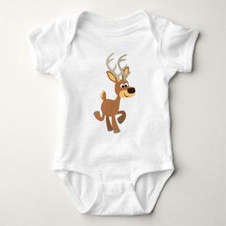 Cute Trotting Cartoon Deer Baby Apparel Baby Bodysuit