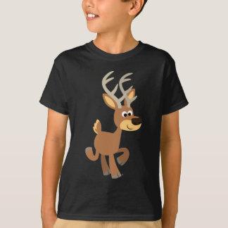 Cute Trotting Cartoon Deer Children T-Shirt