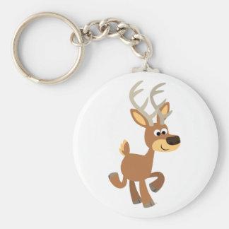 Cute Trotting Cartoon Deer Keychain