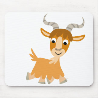 Cute Trotting Cartoon Goat  Mousepad