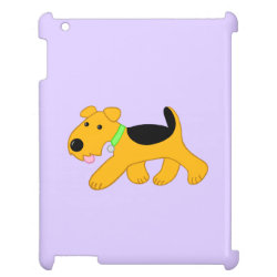 Case Savvy Glossy Finish iPad Case with Airedale Terrier Phone Cases design