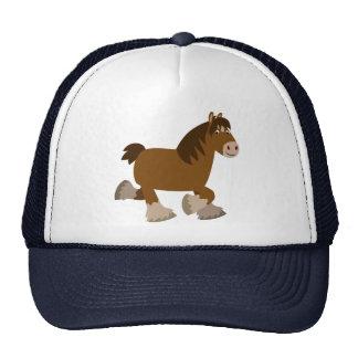 Cute Trotting Cartoon Shire Horse Hat
