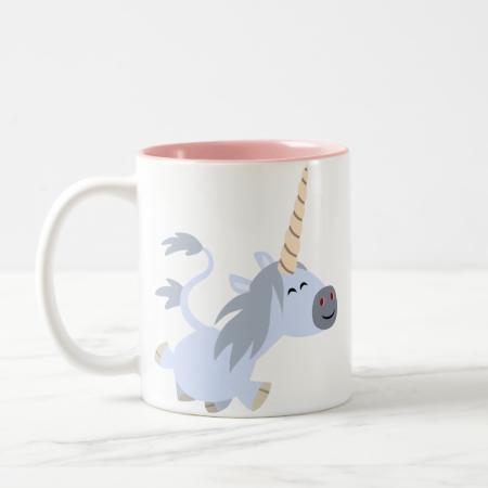 Cute Trotting Cartoon Unicorn Mug