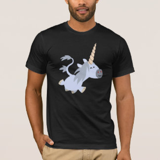 Cute Trotting Cartoon Unicorn T-Shirt