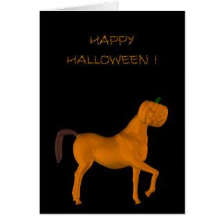 Cute Trotting Halloween Horse Card