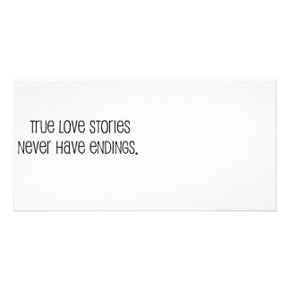 """Cute, """"True love stories"""" marriage quote Picture Card"""