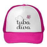 Cute Tuba Diva Cap Mesh Hat