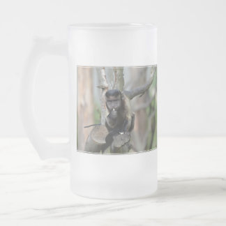 Cute Tufted Capuchin Monkey Frosted Beer Mug