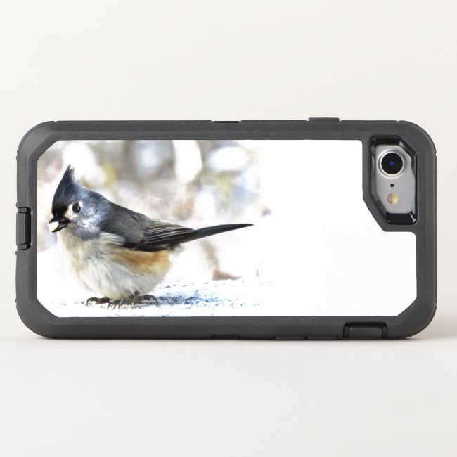 Cute Tufted Titmouse Bird OtterBox iPhone 8/7 Case