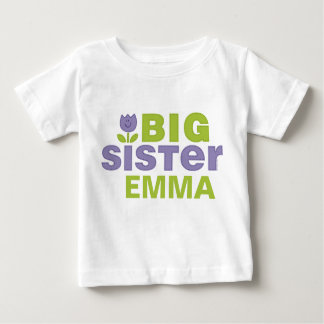 Cute Tulip Big Sister Personalized Infant T-Shirt