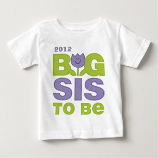Cute Tulip Big Sister To Be Personalized Infant T- Baby T-Shirt
