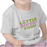 Cute Tulip Little Sister Personalized Infant T-Shi Tees