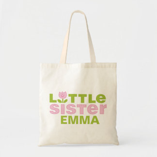 Cute Tulip Little Sister Personalized Tote Bag